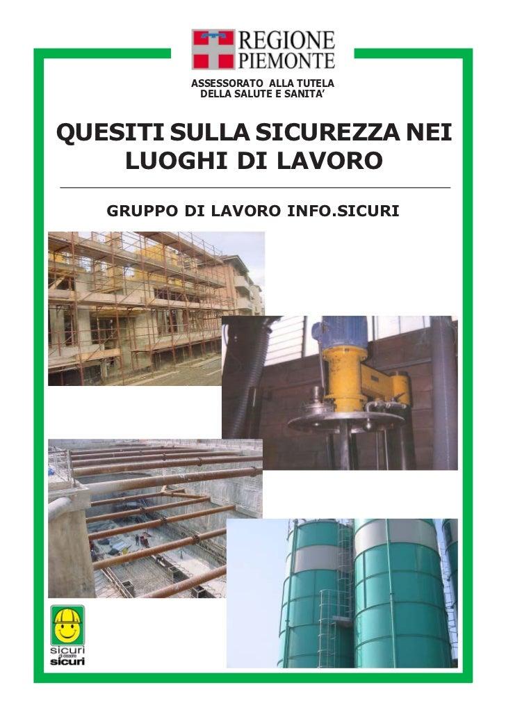 02   100803 piemonte-quesiti_decreto_81