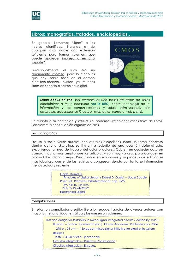 Biblioteca Universitaria. División Ing. Industrial y Telecomunicación                                           CBI en Ele...