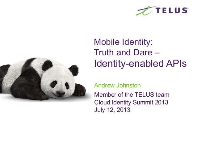 CIS13: Identity-enabled Network APIs