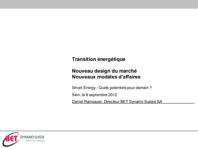 Quels modèles d'affaires pour la transition énergétique ?