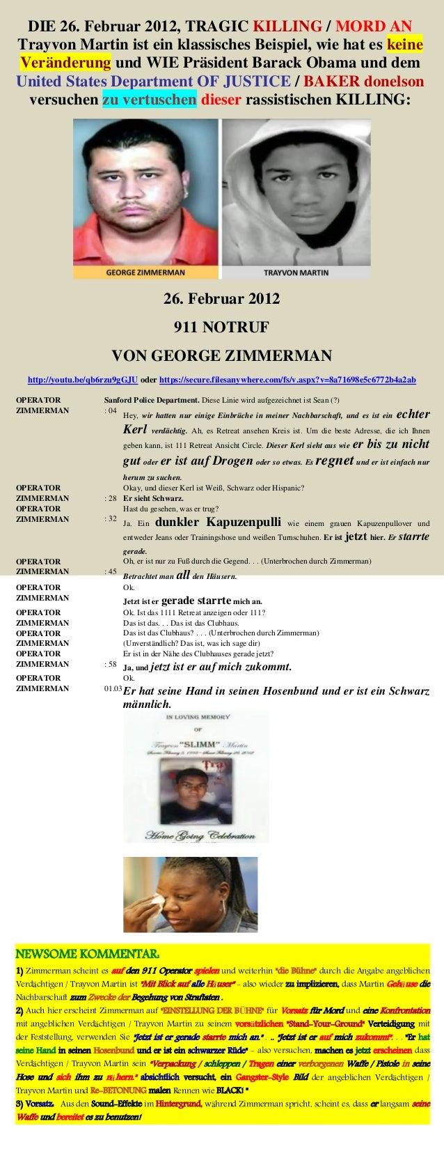 DIE 26. Februar 2012, TRAGIC KILLING / MORD AN Trayvon Martin ist ein klassisches Beispiel, wie hat es keine Veränderung u...