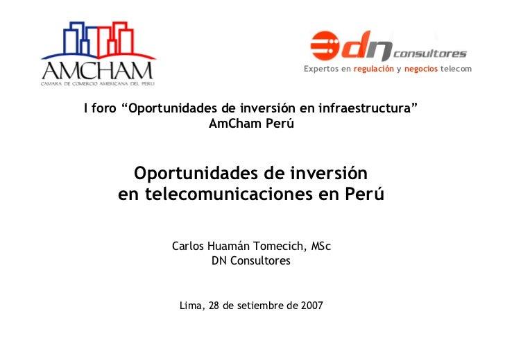 Oportunidades de inversión en telecomunicaciones en Perú Proyecto WiMax Sitel: plan de negocios Informe final. Setiembre 2...