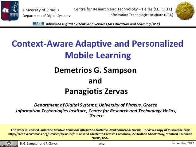 University of Piraeus               Centre for Research and Technology – Hellas (CE.R.T.H.)          Department of Digital...