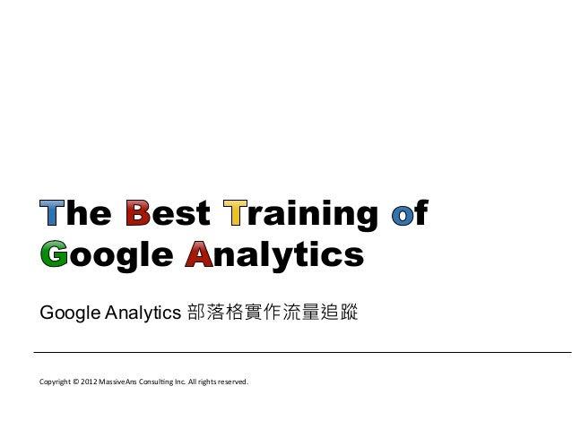 Google Analytics blog support