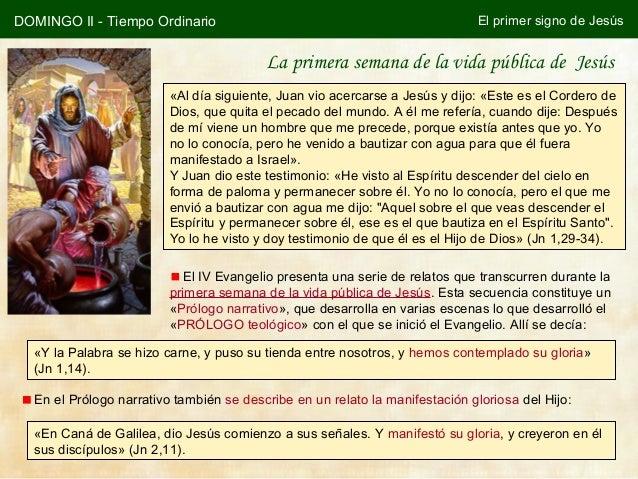 DOMINGO II - Tiempo Ordinario                                                El primer signo de Jesús                     ...