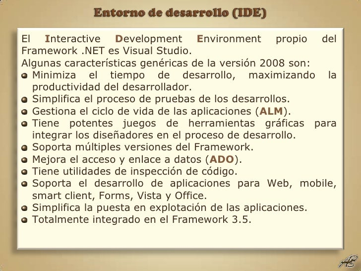 Framework .NET 3.5 02 Entorno de desarrollo (ide)