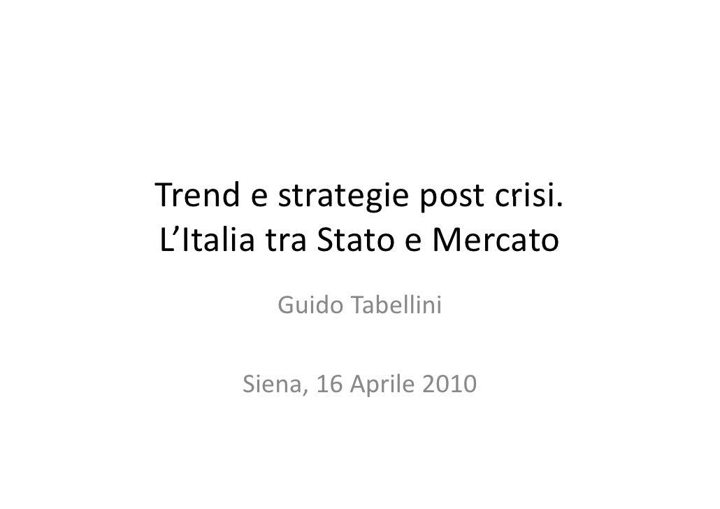 Fondi Immobiliari - Intervento Guido Tabellini al Seminario FIMIT 2010