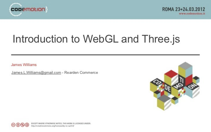 Introduction to WebGL and Three.js
