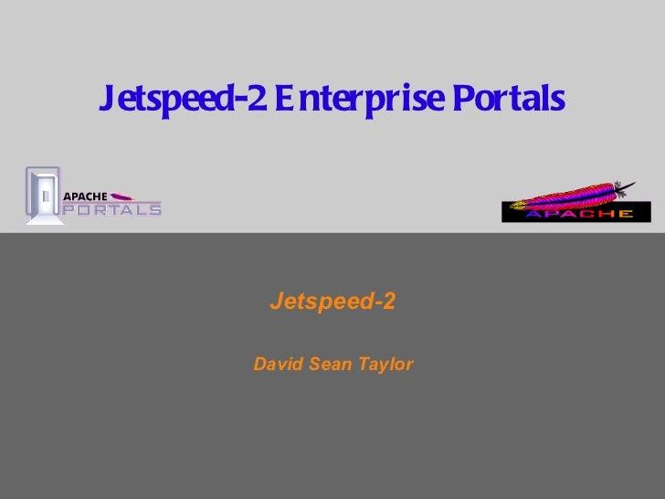 Jetspeed-2 Overview