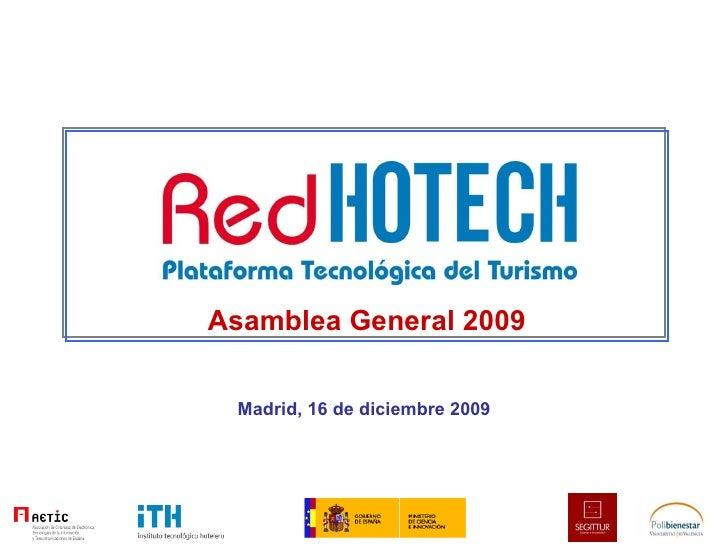 Asamblea General 2009 Madrid, 16 de diciembre 2009