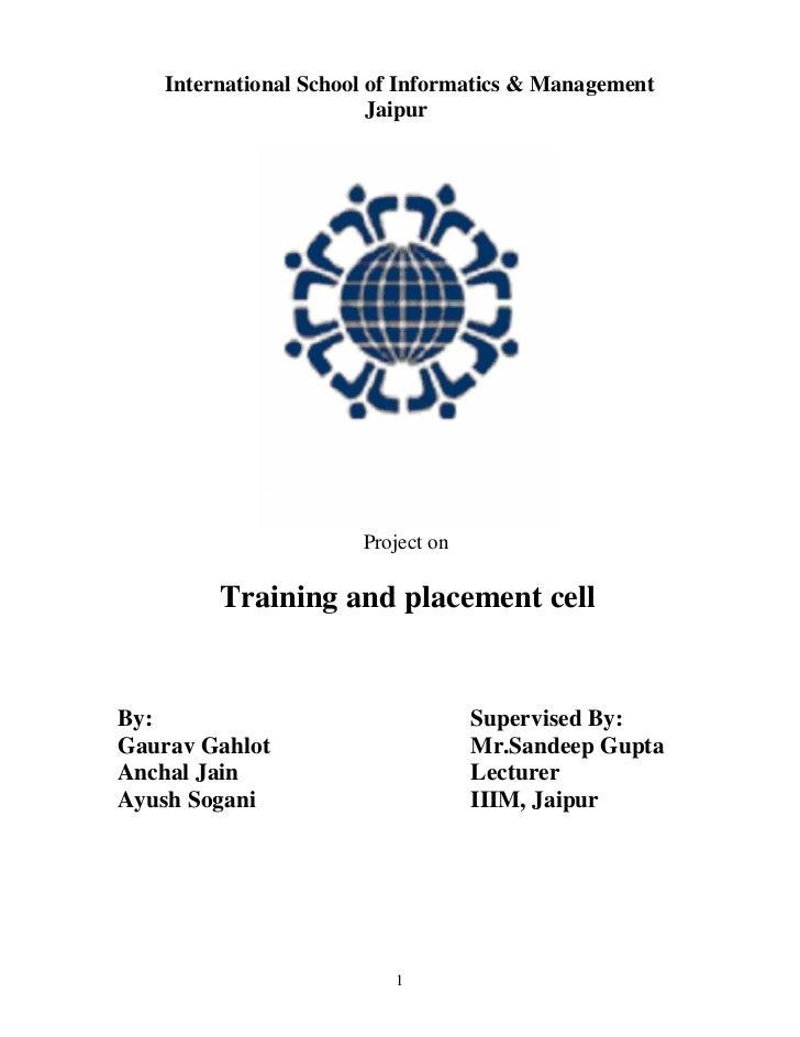 International School of Informatics & Management                         Jaipur                       Project on         T...