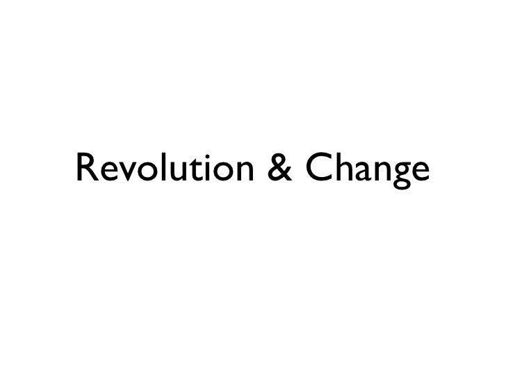 Scientific Revolution and Change