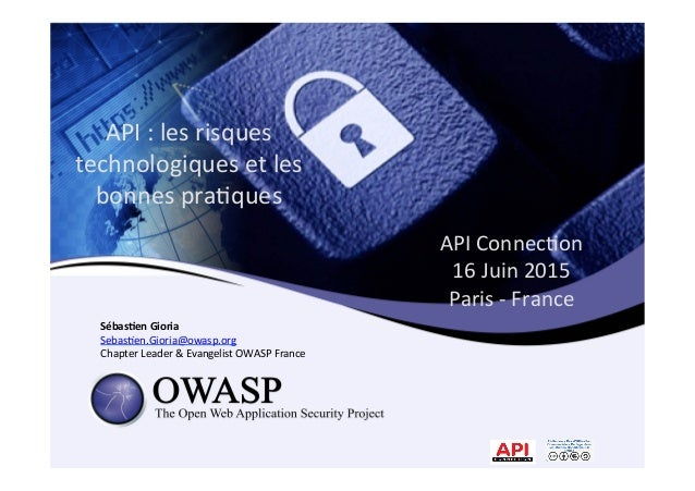 API	   Connec*on	   	    16	   Juin	   2015	   	    Paris	   -­‐	   France	   	    	   Sébas&en	   Gioria	    Sebas*en.Gio...