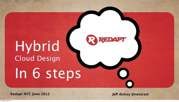Hybrid                       Cloud Design                       In 6 steps                   Redapt NYC June 2012   Jeff d...