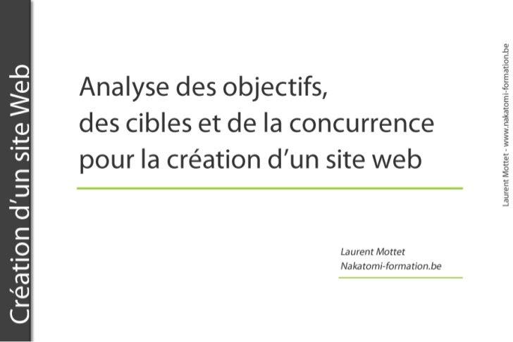 Formation ergonomie : les objectifs d'un site web. Formateur Laurent Mottet
