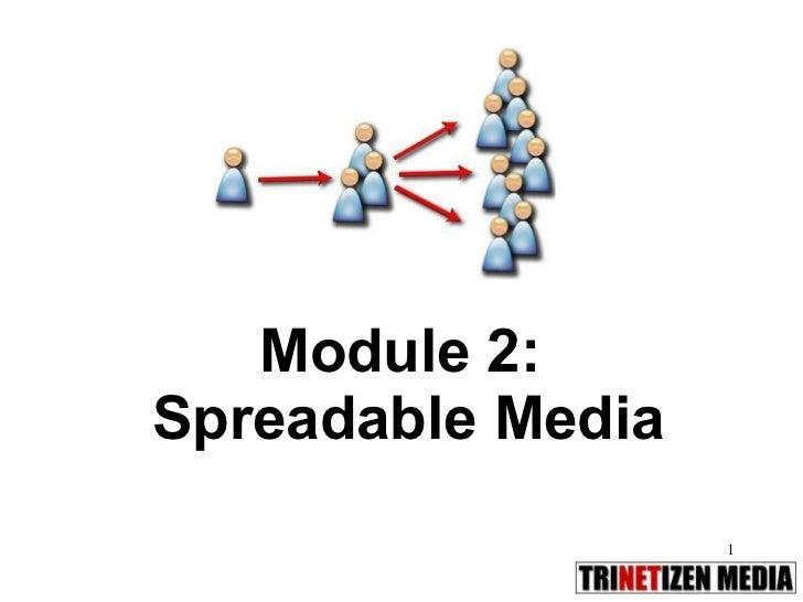 Module 02.Spreadable media
