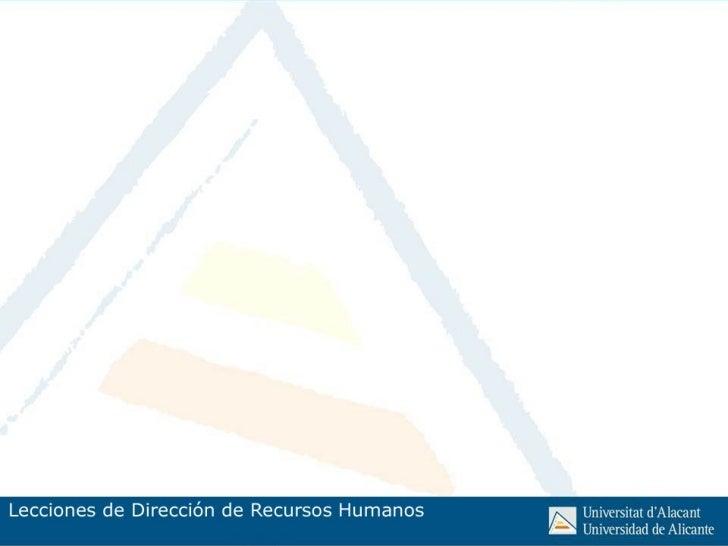 Dirección Estratégica de Recursos                  HumanosÍNDICE.1. La Dirección Estratégica de Recursos Humanos          ...