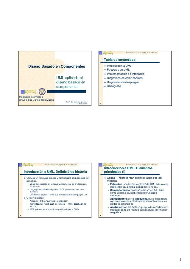 Diseño Basado en Componentes Curso 2008 / 09                                                                              ...