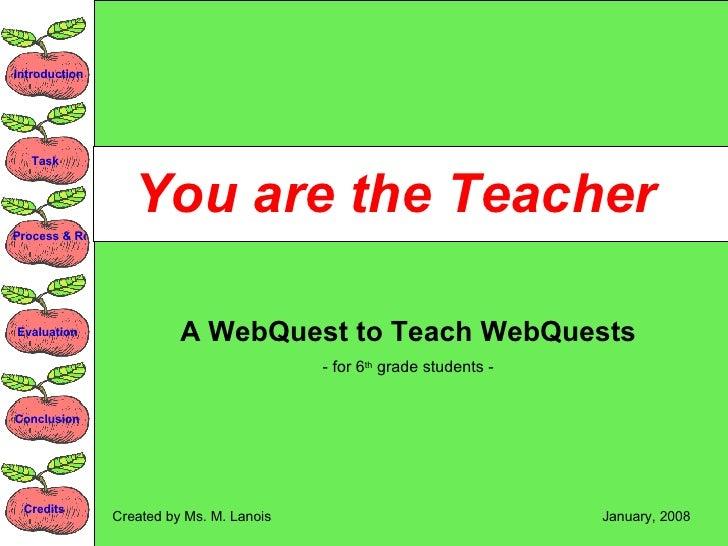 02  You Are The  Teacher