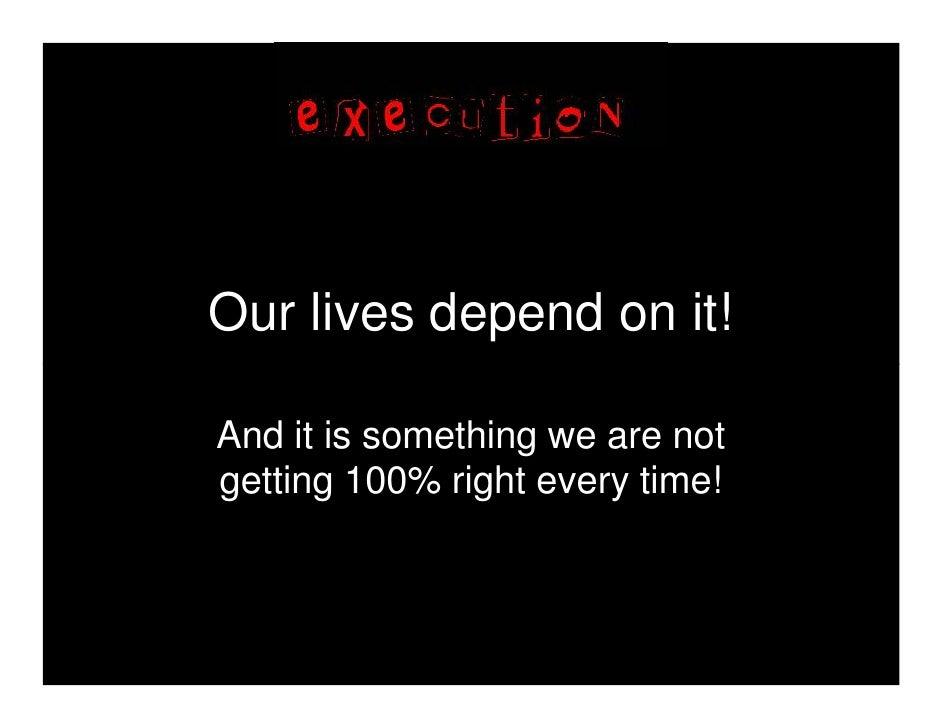 020   execution - an analogy