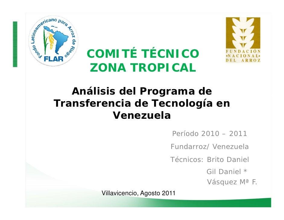 COMITÉ TÉCNICO     ZONA TROPICAL   Análisis del Programa de                   gTransferencia de Tecnología en           Ve...