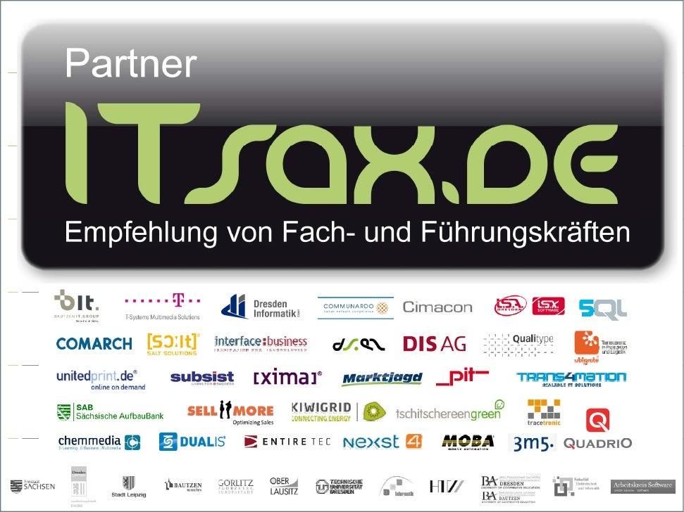 11. Community T i i – I h lt11 C      it Training Inhalt    Vorstellungsrunde    Ergebnisse – 3 Jahre ITsax.de    Gehal...