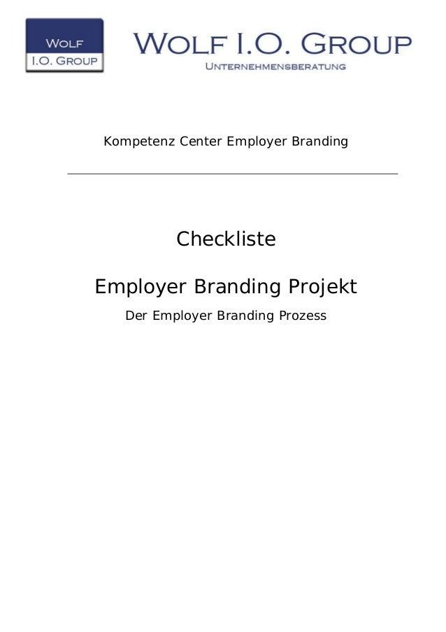 Kompetenz Center Employer Branding Checkliste Employer Branding Projekt Der Employer Branding Prozess