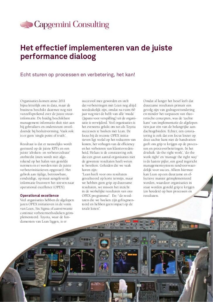 Lean Advanced: value & performance management