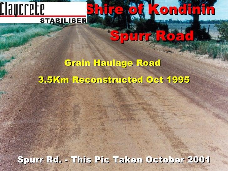 Shire of Kondinin, Spurr Rd (1995)