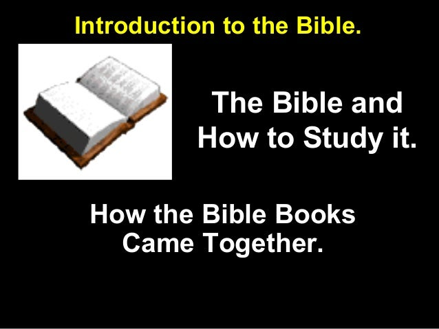 study guide introduction to the bible Start studying study guide: introduction to the bible learn vocabulary, terms, and more with flashcards, games, and other study tools.