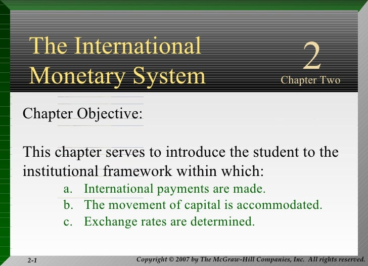 international monetary systems essay An essay or paper on international monetary system international monetary system: description, assessment, and predictions this research presents a review of the.