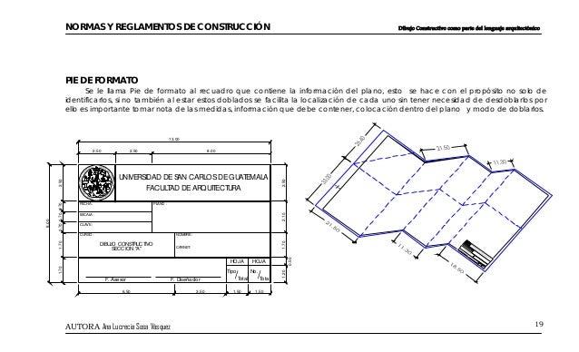 Dibujo arquitectonico for Pie de plano arquitectonico pdf