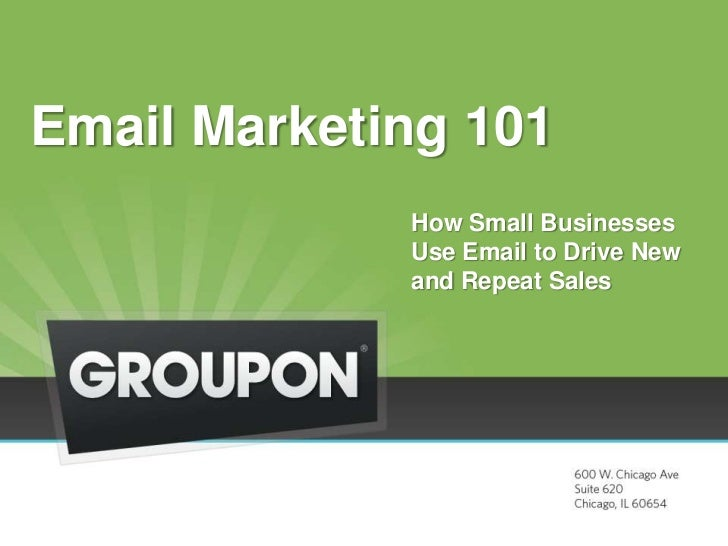 How SMBs Use Email Marketing + Groupon to Drive Sales