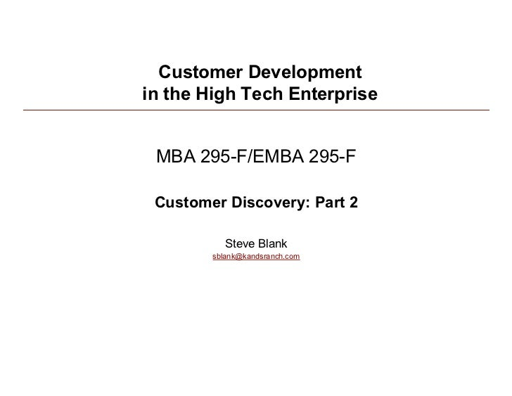 Customer Development/Lean Startup 020210  Class 3