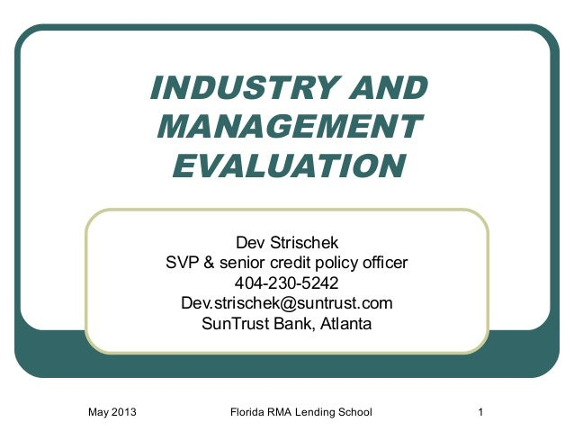 RMA-SOCL: Industry & Management Evaluation (Dev Strischek)