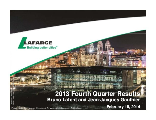 2013 Fourth Quarter Results - The slides for the analyst presentation