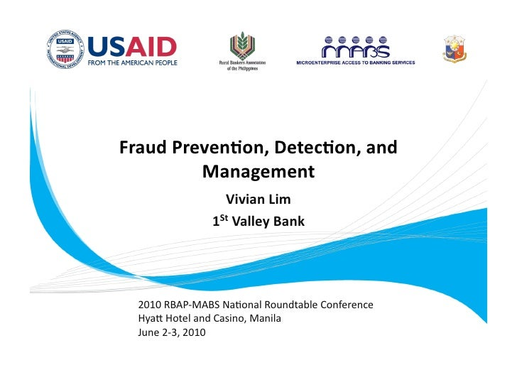 Fraud Prevention Detection and Management