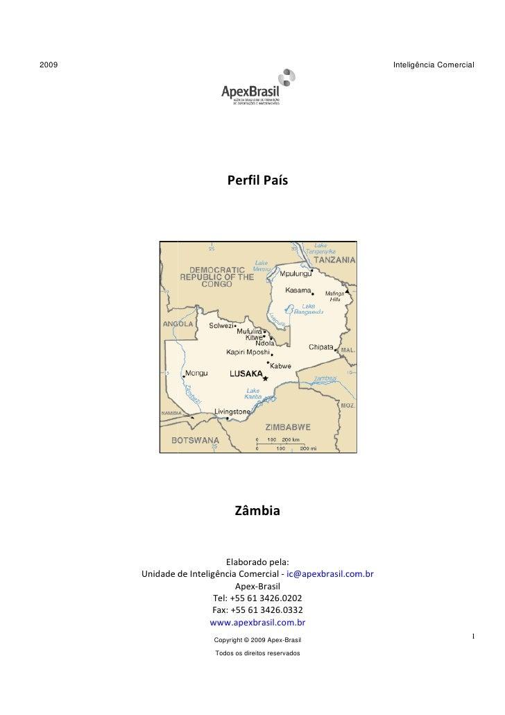 Perfil País 2009 - Zâmbia