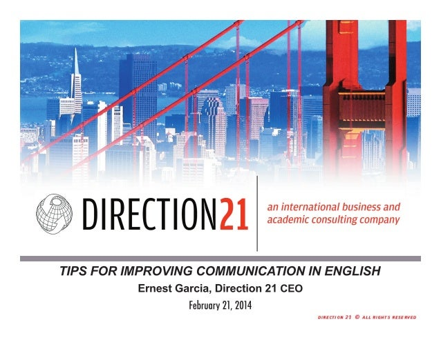Tips for improving communication in English