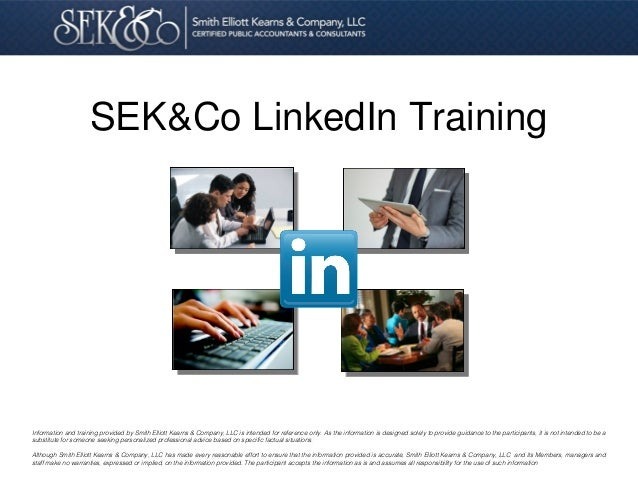 Optimzing Your Linked In Profile & Company Page to Attract Clients & Grow Your Visibility