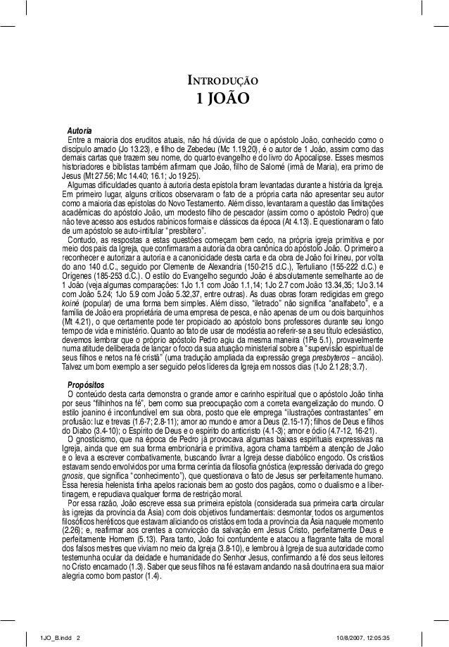 INTRODUÇÃO                                                1 JOÃO        Autoria        Entre a maioria dos eruditos atuais...