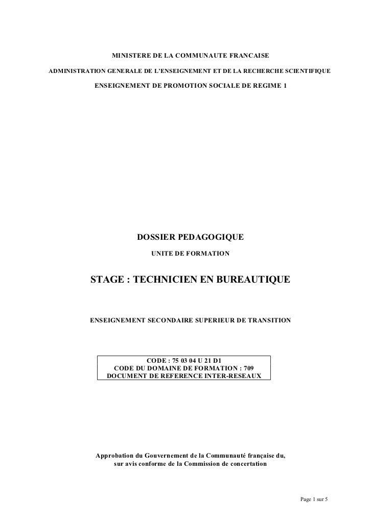 MINISTERE DE LA COMMUNAUTE FRANCAISEADMINISTRATION GENERALE DE L'ENSEIGNEMENT ET DE LA RECHERCHE SCIENTIFIQUE           EN...