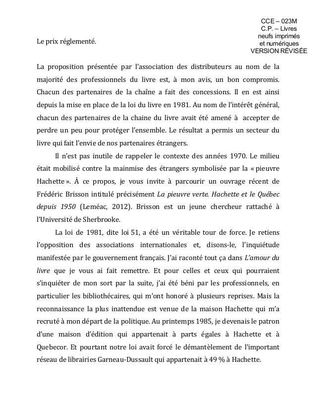 Prix unique du livre - Mémoire de M. Denis Vaugeois