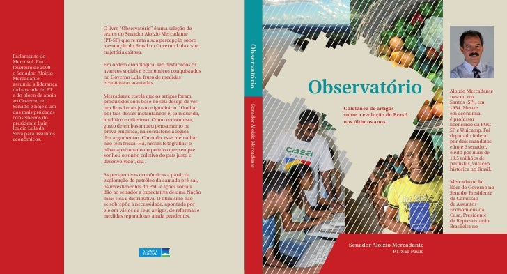 (Capa) Observatório - Coletânea de artigos sobre a evolução do Brasil nos últimos anos
