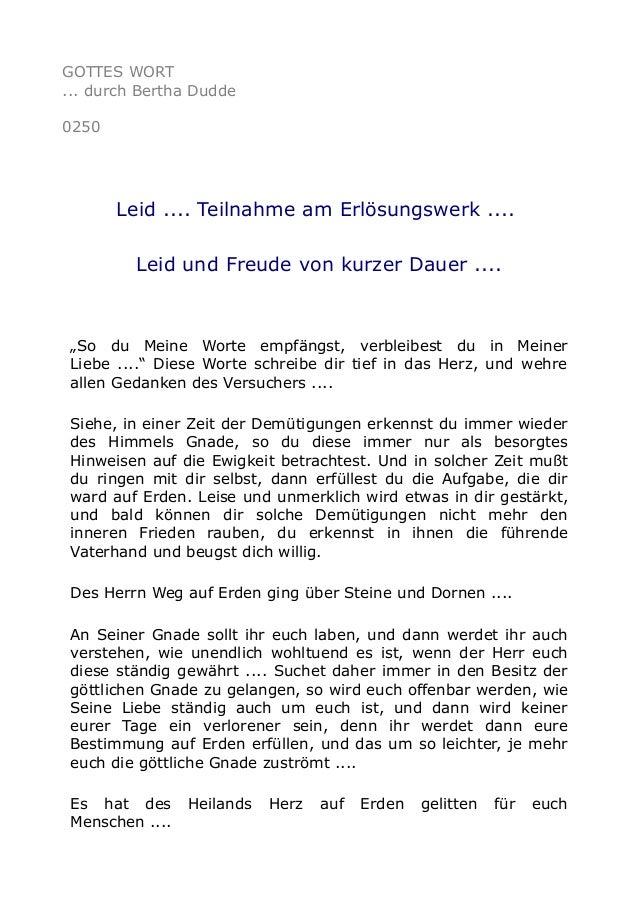 """GOTTES WORT ... durch Bertha Dudde 0250 Leid .... Teilnahme am Erlösungswerk .... Leid und Freude von kurzer Dauer .... """"S..."""