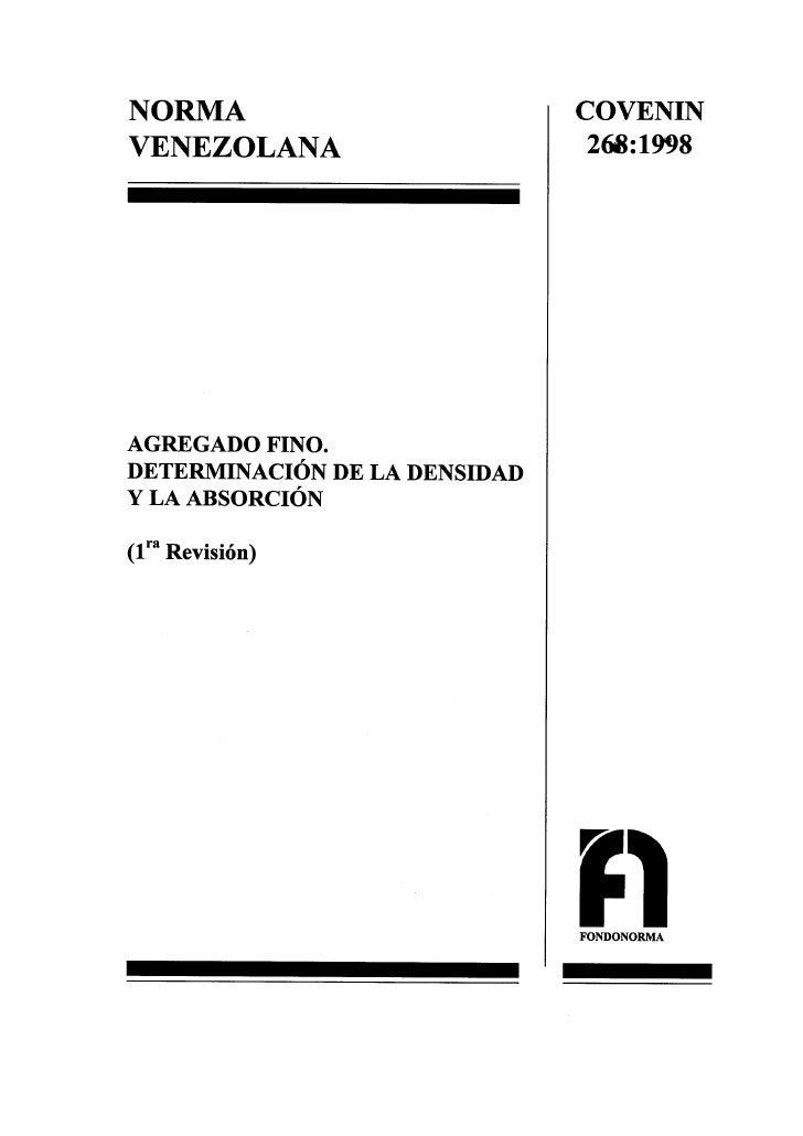 0268 1998 Norma Agregado Fino