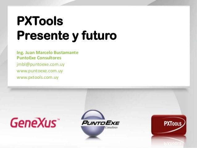 PXTools Presente y futuro Ing. Juan Marcelo Bustamante PuntoExe Consultores jmbl@puntoexe.com.uy www.puntoexe.com.uy www.p...