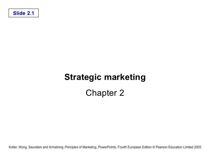Strategic marketing Chapter 2