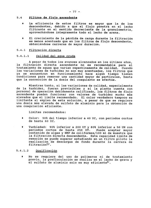 FILTROS DE FLUJO ASCENDENTE