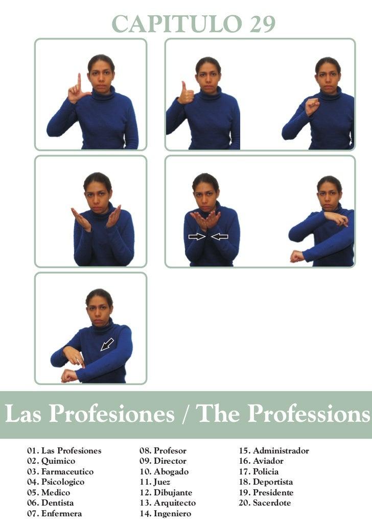 CAPITULO 29Las Profesiones / The Professions  01. Las Profesiones    08. Profesor     15. Administrador  02. Quimico      ...